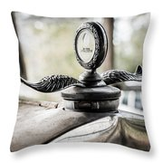 Model A Ford Hood Ornament Throw Pillow