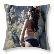 Model Aspen 001 Throw Pillow