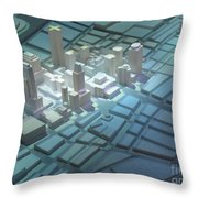Model City 2 Throw Pillow