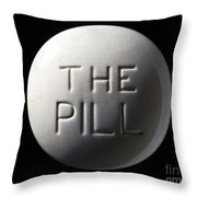 Model Of Contraceptive Pill, C.1970 Throw Pillow