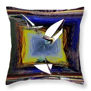 Model Sailboats Throw Pillow