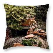 Model Train Tunnel Throw Pillow
