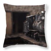 Model Train Throw Pillow