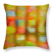 Modern Abstract Mosaic Color Combination 4 Throw Pillow