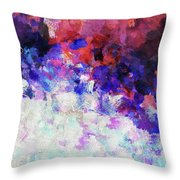 Modern Abstract Painting In Blue Throw Pillow