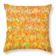 Modern Abstract Pointilist Color Combination 1 Throw Pillow