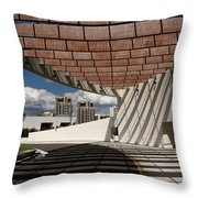 Modern Architecture Of Ismaili Centre Entrance With Aga Khan Mus Throw Pillow