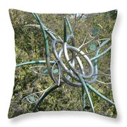 Modern Art Displayed Throw Pillow
