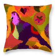 Modern Art Dove Throw Pillow