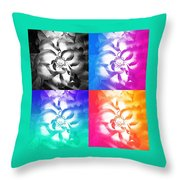 Modern Art Meets My Flowers Throw Pillow