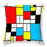 Modern Art Square Throw Pillow