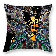 Modern Balinese Dance Throw Pillow