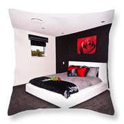 Modern Bedroom Throw Pillow