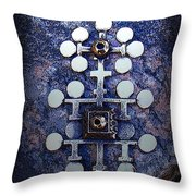 Modern Bronze Design Throw Pillow