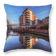 Modern Canal Living Throw Pillow