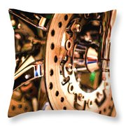 Modern Chrome Throw Pillow
