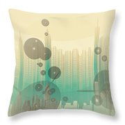 Modern City Abstract Throw Pillow