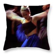 Modern Dance Motion Throw Pillow