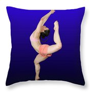 Modern Dancer  Throw Pillow