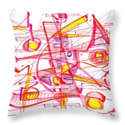 Modern Drawing Eighty-three Throw Pillow