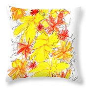 Modern Drawing Fifty-five Throw Pillow