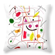 Modern Drawing Fifty-six Throw Pillow