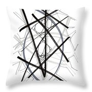 Modern Drawing Forty-six Throw Pillow