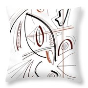 Modern Drawing Sixty-seven Throw Pillow
