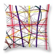Modern Drawing Twelve Throw Pillow
