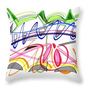Modern Drawing Twenty-five Throw Pillow