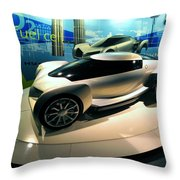 Modern Fuel Cell Car Throw Pillow