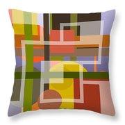 Modern Harmonious Abstract Throw Pillow
