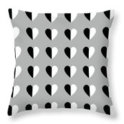 Modern Hearts- Art By Linda Woods Throw Pillow
