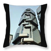 Modern Hong Kong  Throw Pillow