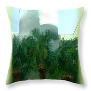 Modern Hotel Of Old Florida Throw Pillow