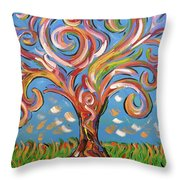 Modern Impasto Expressionist Painting  Throw Pillow