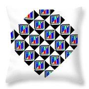 Modern Jazz Throw Pillow