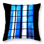 Modern Johannes Schreiter Window Mainz 2 Throw Pillow