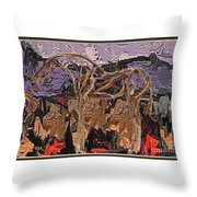 Modern Landscape Throw Pillow