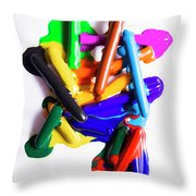 Modern Rainbow Art Throw Pillow