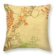 Modern Reflection Of Sakai Hoitsu Throw Pillow
