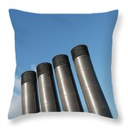 Modern Restaurant Chimneys Throw Pillow