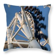 Modern Roller Coaster Throw Pillow