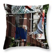 Modern Signage Throw Pillow