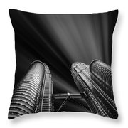 Modern Skyscraper Black And White Picture Throw Pillow