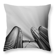 Modern Skyscraper Black And White  Throw Pillow