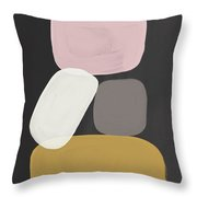 Modern Stacked Stones- Art By Linda Woods Throw Pillow