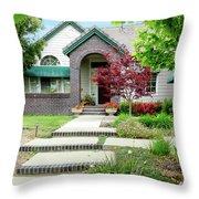 Modern Suburban House Hayward California 33 Throw Pillow