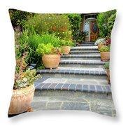 Modern Suburban House With Succulent Garden Hayward California 34 Throw Pillow