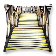 Modern Subway Steps In London Canary Wharf District Throw Pillow